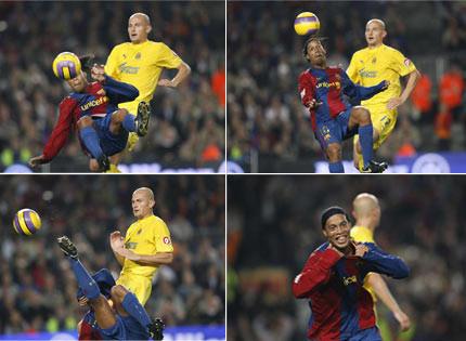 0ae0f62ac95 Ronaldinho spiller både effektivt og smuk. Her fra hans tid i FC Barcelona