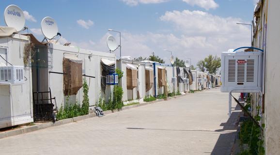 Harran-flygtningelejr: containerlejren er et tyrkisk prestigeprojekt. Foto: Tine Toft Jørgensen