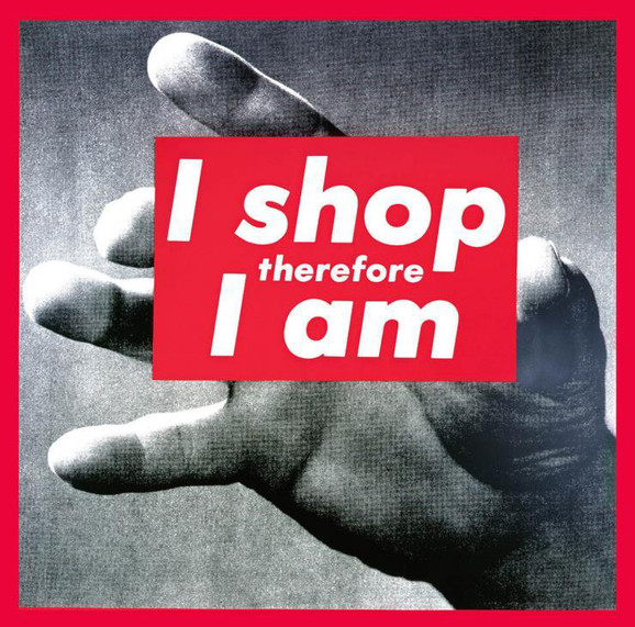 Barbara Krugers Untitled (I shop therefore I am) fra 1987