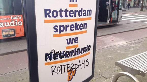 I Rotterdam taler vi hollandsk… rotterdamsk. Foto: Twitter