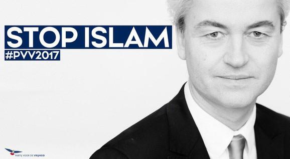 Stop islam. Foto: Geert Wilders' twitterprofil