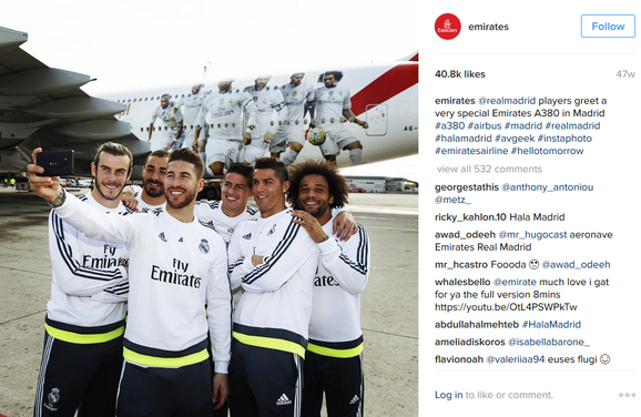 Fra Emirates instagramprofil