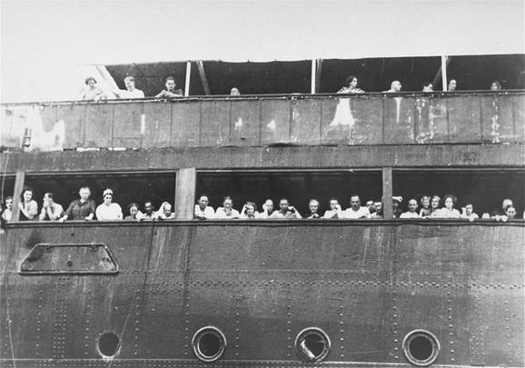 Jødiske flygtninge ombord på SS St. Louis i 1939