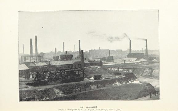 Industrialiseringen som den tog sig ud i Storbritannien. Foto: British Library