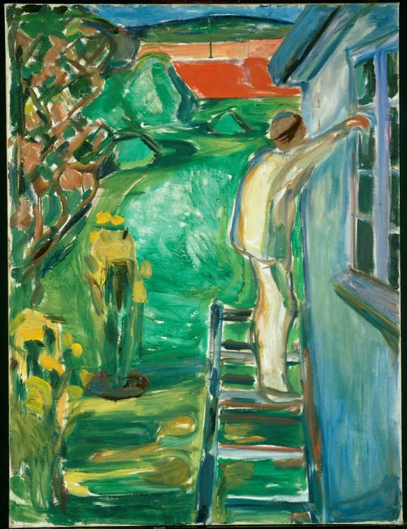 Maler ved husveggen